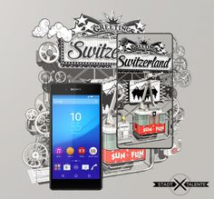 """Ein """"Gondeli"""" für das Xperia Z3+ von Sony Typography Letters, Lettering, Self Promotion, Sony, Smartphone, Calligraphy, Entertaining, Creative, Drawing Letters"""