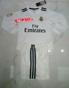c71aaa7e2 Kids Real Madrid 2018-19 Top LS Home Soccer Kit  N14 . Ramesh Gehani ·  Sports Wear · 2018-19 Cheap Youth ...