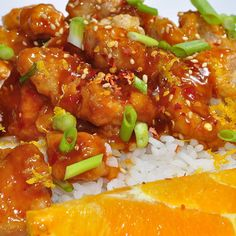 Orange Chicken: Skip the Chinese takeout. This orange chicken is supereasy and adds a bright and tangy option to your crockpot repertoire. Source: Chelsee Bendtsen