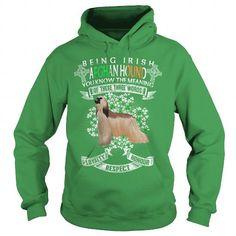 Afghan Hound Saint Patrick's Day Being Irish Afghan Hound Dog