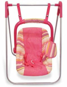 2 in 1 Doll Carrier and Swing Great Value!! by My Doll Classics. $29.99. Features: A Doll Swing and Doll Carrier- Infant Seat. Material: Metal, Plastic, High Quality Fabric. Includes: Infant Carrier. This multi-purpose doll swing is fun at home and on the go! Entertain your baby doll using the swing. And when it's time for some out and about, the seat removes from the swing frame and can be used separately as a carrier / seat! Seat has a two-point safety belt, a...
