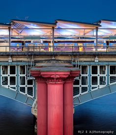 The new Blackfriars Station spans the Thames in the best British tradition of Railway engineering. (End of LW11)