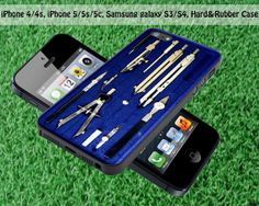 Vintage Blue Drafting Box for iPhone 4 / 4S iPhone by FASTYCorner, $13.00