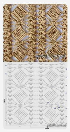 Define and symbols for crochet an openwork sample. by sara Crochet Scraf Looks like flower in a trellis. Crochet Shawl Diagram, Crochet Stitches Chart, Crochet Lace Edging, Crochet Motifs, Easy Crochet Patterns, Diy Crochet, Crochet Baby, Stitch Patterns, Knitting Patterns