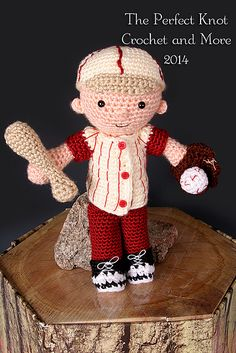 Ravelry: My First Babies Little Boy Blue Amigurumi Dress-up Doll Baseball Player Accessories pattern by The Perfect Knot - Michelle Kovach