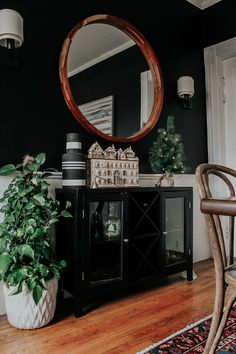 A Modern, Moody, Victorian Home at Christmas - Miranda Schroeder