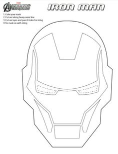 Iron Man Mask Template Printable cakepins.com