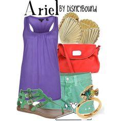 Ariel ... on the go ... Disneybound FROM: http://media-cache-ec0.pinimg.com/originals/2c/a7/86/2ca786255d58bb12e9f50d9657ccb24c.jpg
