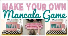 DIY Crafts | Do you love games as much as I do? Make your own Mancala game that latches closed when done. No more smushed boxes or missing pieces!