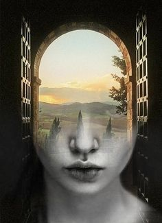 Artist Antonio Mora's double-exposure portraits merge human faces with ethereal…