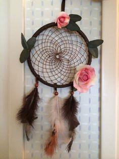 Pheobe's rose and leaf dream catcher.