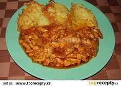 Kuřecí řezanka s bramboráky recept - TopRecepty.cz Treats, Chicken, Food, Straws, Cooking, Sweet Like Candy, Goodies, Essen, Meals