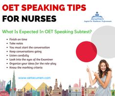 #OET Speaking tips for #Nurses  Join  our #Online_OET_Classes at Acumen !! For any queries contact us at +91 81560 01729 #onlineoet #oetclasses #learnoetonline #onlineoetclasses #studyonlineoet #onlineoetpreparation #oetexam #oetexperts #bestoetinstitute #worldwideonlineclasses #internationalstudents