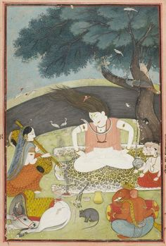 The Holy Family. c 1780-1800 Pahari, Kangra or Garhwal. Source: Art Gallery NSW Shiva swaying to the music played by his wife Parvati, and ...