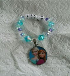 First bracelet i sold on etsy this year. Sold for $10. The frozen bracelets have been very popular this year.