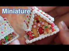 미니어쳐 ✔진져브래드맨 쉽게 만들기 Miniature Gingerbread Man with Polymerclay - YouTube