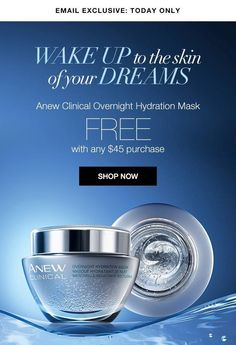 Today only at youravon.com/dhall1217 and while you're there sign up for Autp-Replenish and never be without your #Anew #skincare regimen again! #Avon #BeautyforaPurpose
