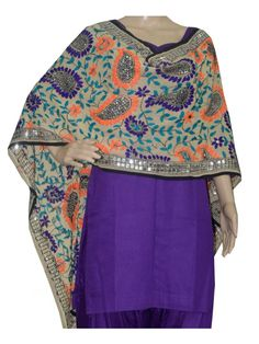 Super Georgette Stole Handembroidery SuperGeorgette Stole with Traditional Embroidery Work  Stole Length 2.25 Meter, Width 0.5 Meter  Wash Care Dry Clean Shop Now : http://www.jankiphulkari.com/cream-super-georgette-stole-jsgs1221