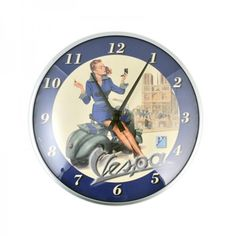 Vespa wall clock 06