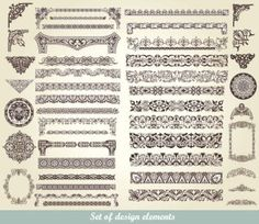 Free exquisite lace pattern vector material at zezu.org