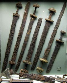 Viking swords, discovered alongside warrior burials in Kilmainham, Dublin.