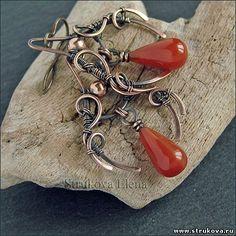 Earrings by Strukova Elena