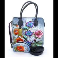 Anuschka 503 Shoulder Bag BUY NOW Hand Painting is an art. It is a creative expression where the painter plays with all the color. Nasa, Leather Shoulder Bag, Diaper Bag, Hand Painted, Fantasy, Handbags, Zip, Purses, Creative