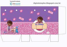 Convites Digitais Simples: KIT DIGITAL ANIVERSÁRIO DOUTORA BRINQUEDOS