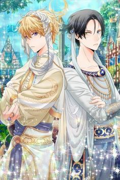 "Wizardess Heart: Elias and Joel from the event ""Love Scramble""."