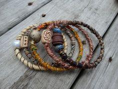 tribal, fall, boho, hippie, bangle stack, bracelets, earth tones