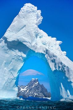 Ice Arch  -   South Georgia Island, situated South of the Antarctic Convergence