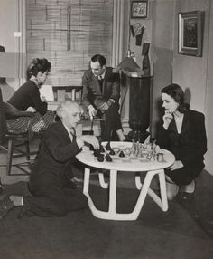 Max Ernst and Dorothea Tanning and Muriel and Julien Levy Playing Chess, The Julien Levy Gallery, New York