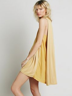 Free People My Girl Dress - great silhouette, color blocking, gold color