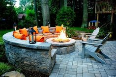 21 Amazing Outdoor Fire Pit Design Ideas 2019 Checkout our latest collection of 21 Amazing Outdoor Fire Pit Design Ideas and get inspired. The post 21 Amazing Outdoor Fire Pit Design Ideas 2019 appeared first on Patio Diy. Cool Fire Pits, Brick Fire Pits, Best Fire Pit, Fire Pit Furniture, Garden Furniture, Furniture Ideas, Furniture Design, Fire Pit Seating, Seating Areas
