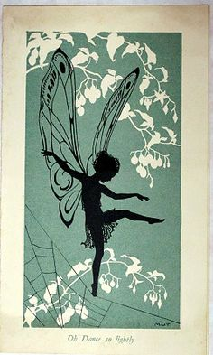 Christmas Card with Fairy Margaret W Tarrant Medici 1935 www.marchhousebooks.com