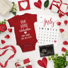 CUSTOM: Valentine Social Media Pregnancy Announcement - Valentine's Day