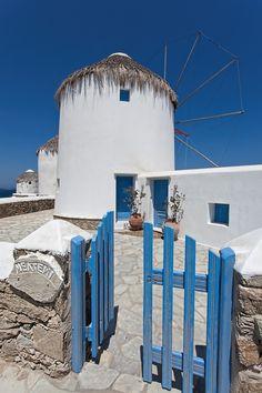Windmill house in Mykonos island ~ Greece