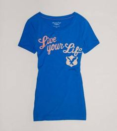 AE Live Your Life Graphic T - Buy One Get One 50% Off