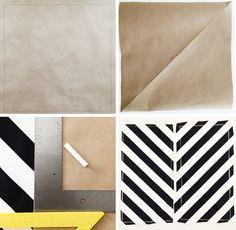DIY Black and White Chevron Pillow