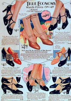 1920s womens shoes for all female characters. Have semi tall heels