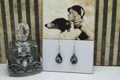 Beautiful grey earrings