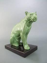 Afbeeldingsresultaat voor art deco sitting panther