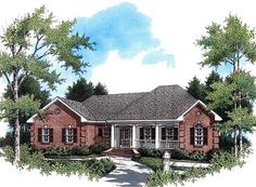 House Plan 59010 | European   Ranch   Traditional    Plan with 1751 Sq. Ft., 3 Bedrooms, 2 Bathrooms, 2 Car Garage