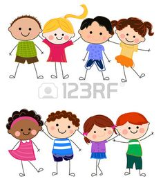 Gruppo di bambini Archivio Fotografico Drawing Lessons For Kids, Art Drawings For Kids, Cute Drawings, Clipart, Letter E Craft, Teachers Day Card, Classroom Images, Comic Book Girl, Cartoon Sketches