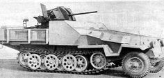 Prototype of Wehrmacht type Sd.Kfz.251/17 on Ausf C chassis.