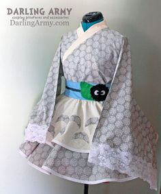 Totoro Studio Ghibli Cosplay Lolita Kimono Dress by DarlingArmy.deviantart.com on @deviantART