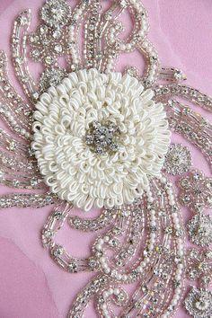 Swarovski Hand Embroidered Crystal Applique by allysonjames, $268.98
