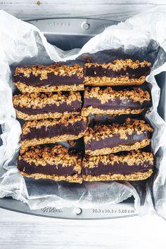 Chocolate Tahini Oat Bars - UK Health Blog - Nadia's Healthy Kitchen