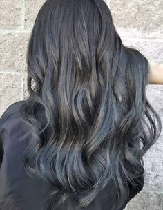 Check it out pinteres raven goddess going grey does not have to be a full on venture adding a touch of grey highlights to your raven locks easily puts you on trend pmusecretfo Choice Image