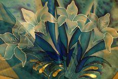 Silk art. Different kinds of silk and silk colors. Батик. Виды шелка,  к...